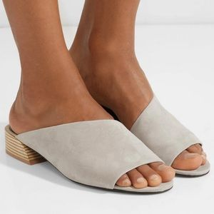 Mercedes Castillo Grey Suede Open Toe Sandals Mule